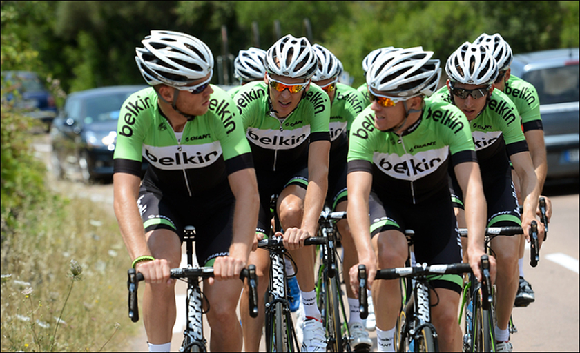 Team Belkin training in Sardinia before the 2013 Tour De France.